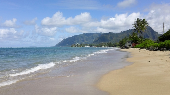 Clean plastic free beach on windward side of Oahu, Hawaii.  Photo by E. Ros. Copyright 2015, All Rights Reserved.